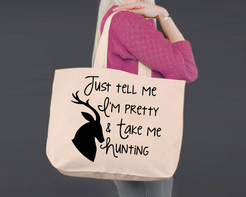 Take Me Hunting | Personalized Canvas Tote Bag