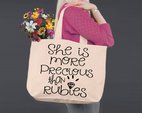 Proverbs 31:10 | Canvas Tote Bag