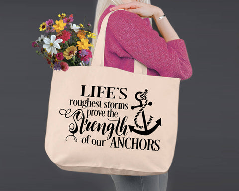 Strength of Our Anchors | Personalized Canvas Tote Bag