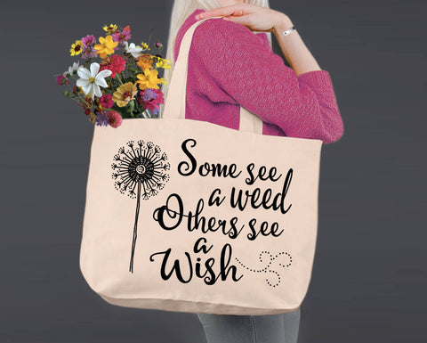 Wish | Personalized Canvas Tote Bag
