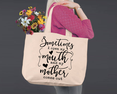 Sometimes I Open my Mouth | Personalized Canvas Tote Bag