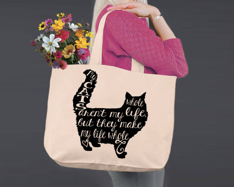 Cat | Personalized Canvas Tote Bag