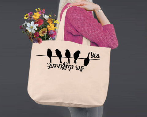 Yes I'm Different | Personalized Canvas Tote Bag