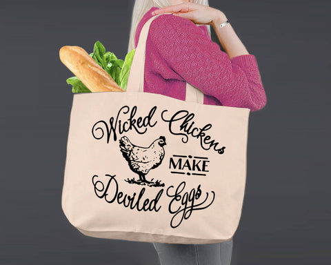 Wicked Chickens | Personalized Canvas Tote Bag