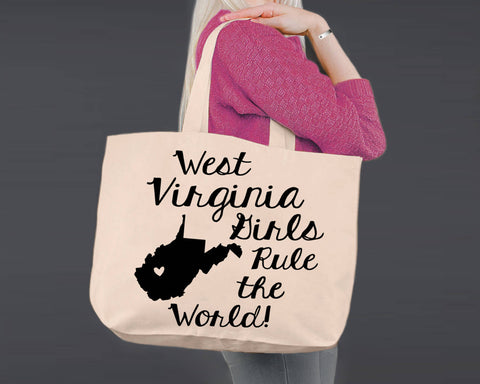 West Virginia | Personalized Canvas Tote Bag