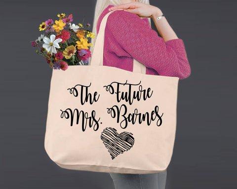 Future Mrs | Personalized Canvas Tote Bag