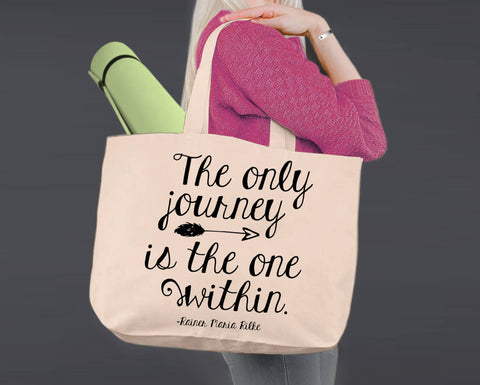 The Journey | Personalized Canvas Tote Bag