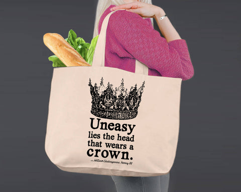 Uneasy Lies The Head | Shakespeare | Canvas Tote Bag