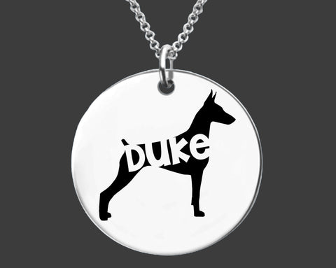 Doberman Pinscher Necklace |  Personalized Dog Necklace