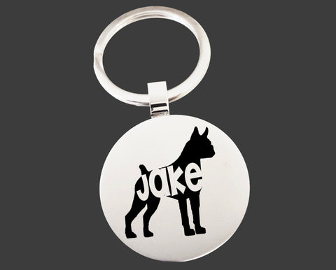 Boxer Dog Keychain | Dog Key Chain | Dog Lover Gifts