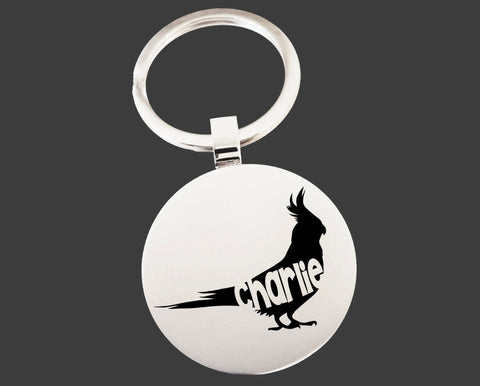 Cockatiel Bird Keychain | Bird Key Chain | Bird Lover Gifts