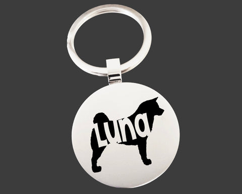 Akita Dog Keychain | Dog Key Chain | Dog Lover Gifts