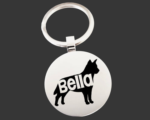 Australian Cattledog Dog Keychain | Dog Key Chain | Dog Lover Gifts