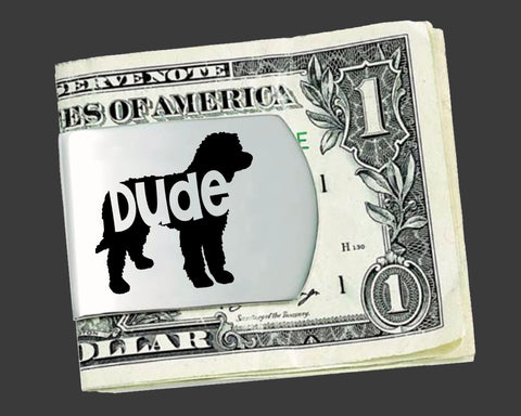 Labradoodle Money Clip | Gifts for Men