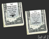 Set of 2 Personalized Money Clips | Father of the Bride / Groom Gift