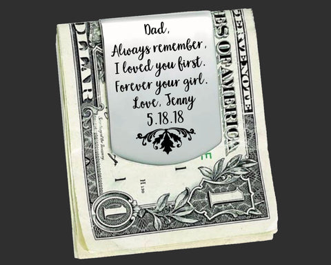Personalized Money Clip | Father of the Bride Gift