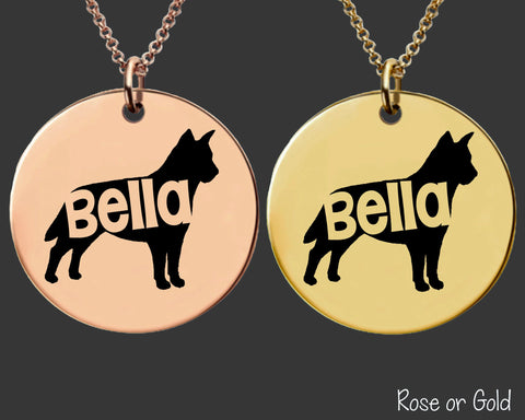 Australian Cattledog Necklace | Rose Gold or Gold Personalized Dog Necklace
