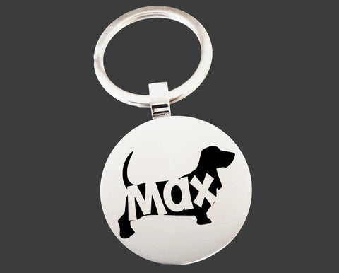 Basset Hound Dog Keychain | Dog Key Chain | Dog Lover Gifts