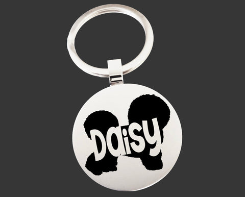 Bichon Frise Dog Keychain | Dog Key Chain | Dog Lover Gifts
