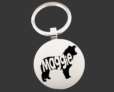 Border Collie Dog Keychain | Dog Key Chain | Dog Lover Gifts