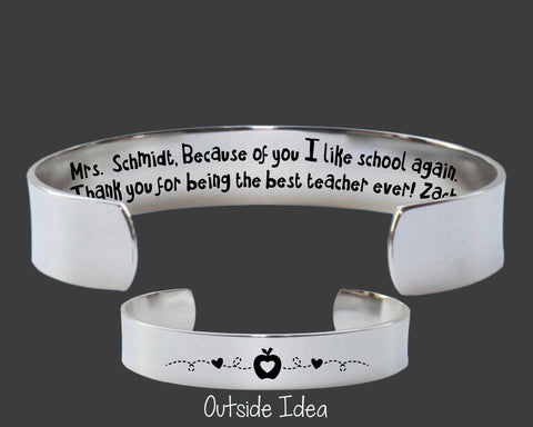 Teacher Gift | Because Of You I Like School Again