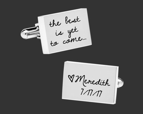 The Best Is Yet To Come | Wedding Gift for Groom | Husband Gift | Anniversary Gift for Husband | Groom Gift | Personalized Cuff Links