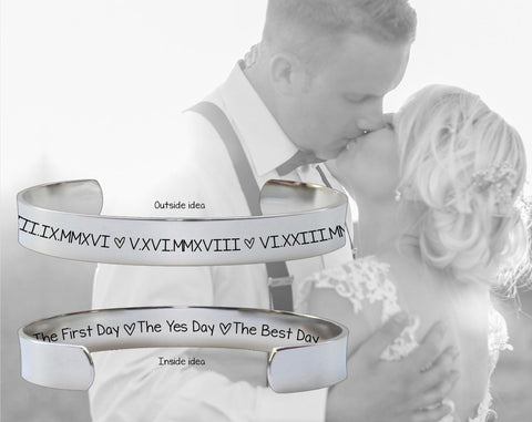 Bride Gifts | The First Day The Yes Day The Best Day Bracelet