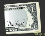 Set of 3 Custom Money Clips | Groomsman Gifts