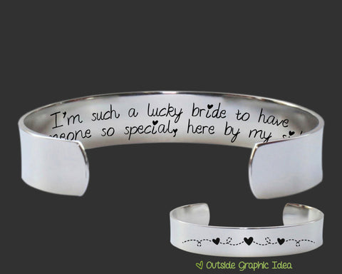 I'm Such a Lucky Bride Bracelet | Bridesmaid Gift