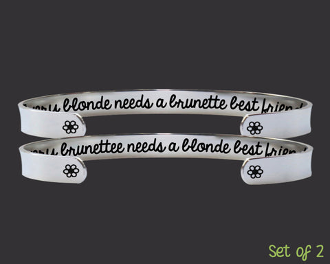 Blonde Brunette Best Friend Bracelet