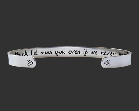 I'd Miss You Bracelet | Miss You Gift | Goodbye Gift