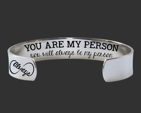 You Are My Person You Will Always Be My Person Bracelet