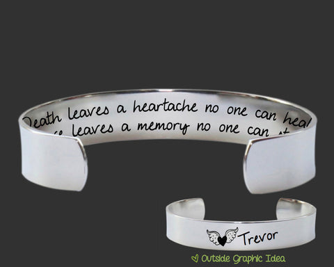 Death Leaves a Heartache Personalized Memory Bracelet
