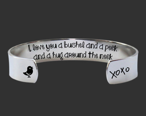 A Bushel and a Peck Bracelet | Daughter Gift