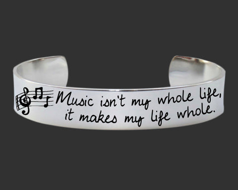 Music Isn't My Whole Life Bracelet
