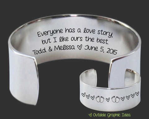 Everyone Has a Love Story Bracelet | Anniversary Gift
