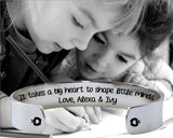 It Takes a Big Heart Personalized Bracelet
