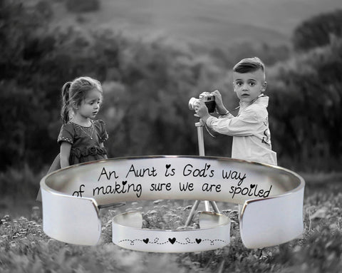 An aunt is Gods way Bracelet | Aunt Gift