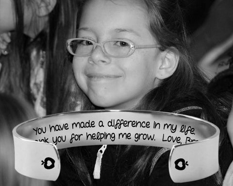 Thank You For Helping Me Grow Bracelet | Teacher Gifts