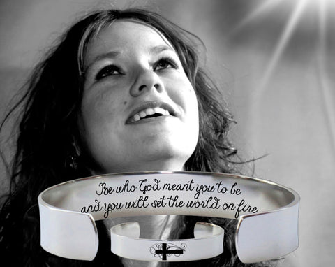 Be who God meant you to be Bracelet | Encouragement Gift