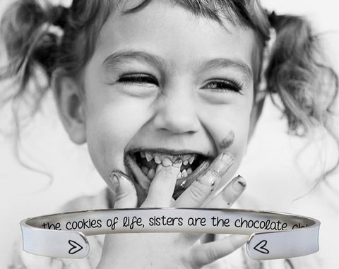 Sisters Are the Chocolate Chips Bracelet | Sister Gift