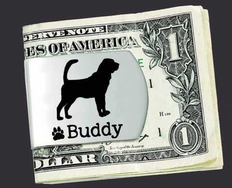 Bloodhound Personalized Money Clip