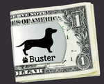 Dachshund Personalized Money Clip