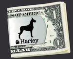 Great Dane Personalized Money Clip