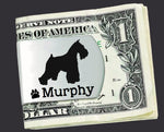 Miniature Schnauzer Personalized Money Clip