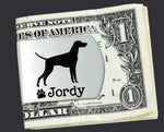 Vizsla Money Personalized Clip