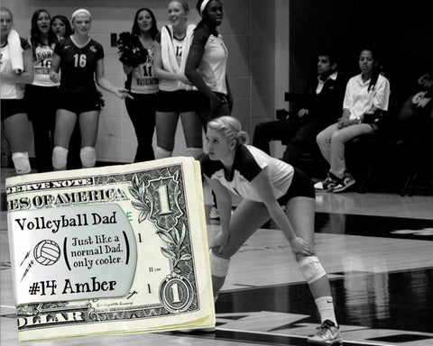 Volleyball Dad Personalized Money Clip