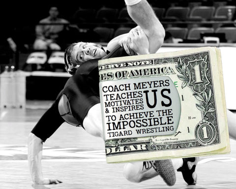 Wresting Coach Personalized Money Clip | Coach Gift