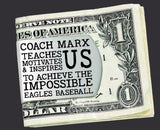 Baseball Coach Personalized Money Clip | Coach Gift