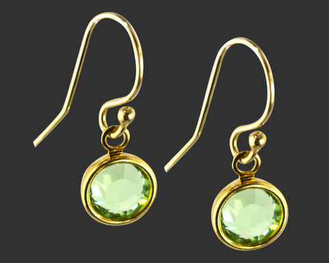 14K Gold Filled Swarovski Crystal Birthstone Earrings
